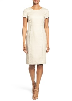 Lafayette 148 New York 'Jones' Linen Sheath Dress
