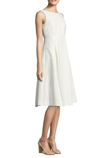 Lafayette 148 Jordan Dot Jacquard Cotton Dress