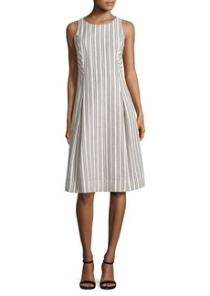 Lafayette 148 New York Jordan Trolley Striped Dress