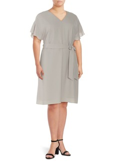 Lafayette 148 New York Jordana Plus Flutter-Sleeve Dress