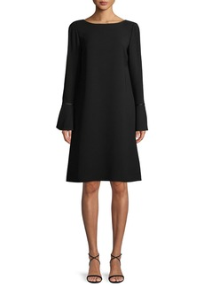 Lafayette 148 New York Jorie Long-Sleeve Crepe Shift Dress