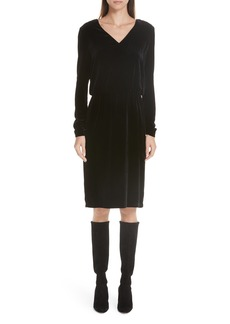Lafayette 148 New York Josefina Velvet Blouson Dress