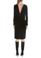 Lafayette 148 New York Josefina Velvet Blouson Dress