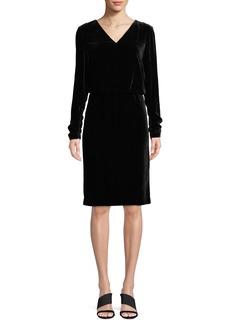 Lafayette 148 New York Josefina Velvet Dress w/ Chain Back