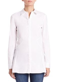 Lafayette 148 New York Joseline Stretch Cotton Shirt
