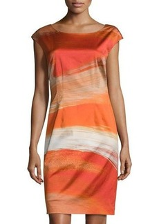 Lafayette 148 New York Josette Cap-Sleeve Printed Sheath Dress