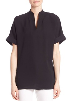 Lafayette 148 New York Josie Silk Double Georgette Blouse
