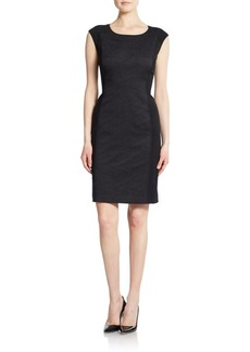 Lafayette 148 New York Joss Jacquard-Detail Dress