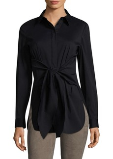 Lafayette 148 New York Jovina Front Tie Blouse