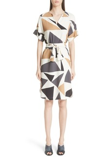 Lafayette 148 New York Jubilee Geometric Print Dress