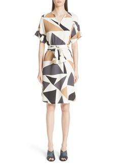 Lafayette 148 New York Jubilee Geometric Print Dress