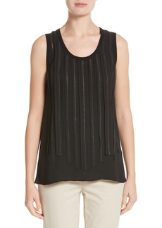 Lafayette 148 New York Jules Chain Stripe Silk Tank