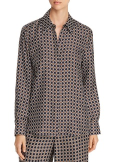 Lafayette 148 New York Julianne Dot-Print Blouse
