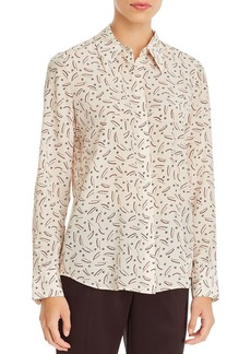 Lafayette 148 New York Julianne Printed Silk Blouse