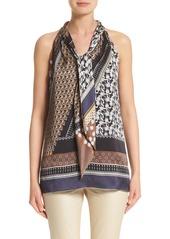 Lafayette 148 New York Julisa Silk Tie Neck Blouse