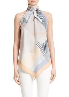Lafayette 148 New York Julisa Tie Neck Silk Blouse