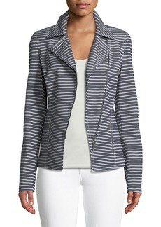 Lafayette 148 New York Julius Striped Denim Twill Jacket
