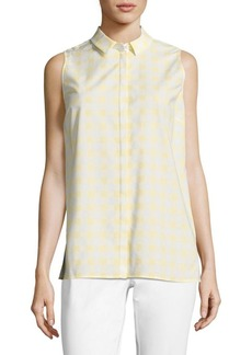 Lafayette 148 New York Justin Gingham Blouse