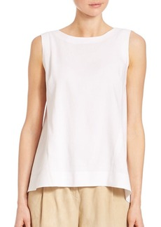 Lafayette 148 New York Justine Linen-Blend Blouse