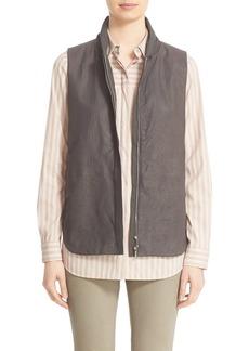 Lafayette 148 New York 'Kaelyn' Lambskin Leather Combo Vest