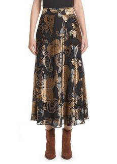 Lafayette 148 New York Kamara Renaissance Paisley Devoré Skirt