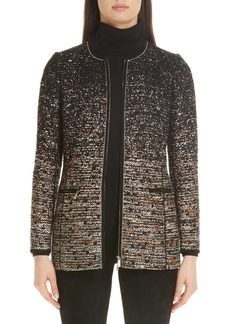 Lafayette 148 New York Karina Ombré Tweed Jacket