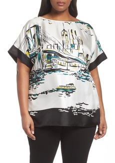 Lafayette 148 New York Karleya Short Sleeve Blouse (Plus Size)