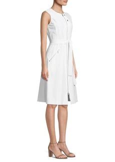 Lafayette 148 Karsyn Belted Flare Dress