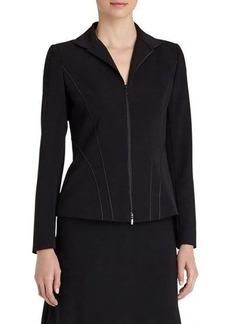 Lafayette 148 New York Kat Zip-Front Jacket