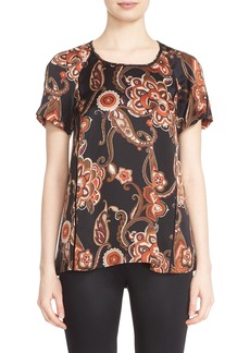 Lafayette 148 New York 'Kate' Print Silk Blouse