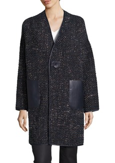 Lafayette 148 Katya Reversible Galaxy Boucle Coat