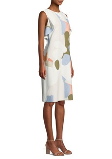 Lafayette 148 Kaydence Printed Ruffle-Armhole Shift Dress