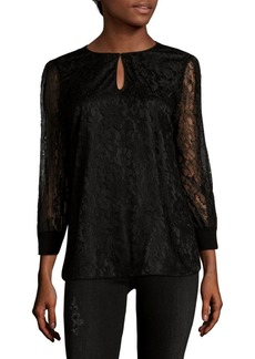 Lafayette 148 Kelsey Embroidered Lace Blouse