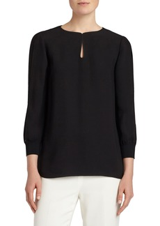 Lafayette 148 New York Kelsey Silk Double Georgette Blouse