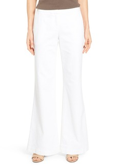Lafayette 148 New York 'Kenmare' Denim Flare Leg Pants