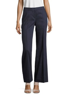 Lafayette 148 New York Kenmare Linen-Blend Bootcut Pants