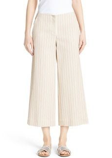 Lafayette 148 New York Kenmare Stripe Crop Flare Pants