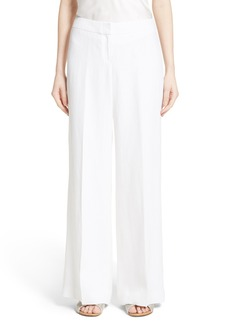 Lafayette 148 New York Kenmare Wide Leg Linen Pants
