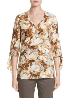 Lafayette 148 New York Kenna Print Silk Blouse (Nordstrom Exclusive)