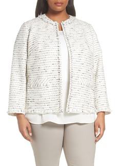 Lafayette 148 New York Kennedy Tweed Jacket (Plus Size)