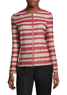 Kerrington Striped Zip-Front Jacket