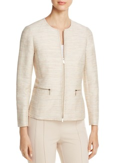 Lafayette 148 New York Kerrington Textured Zip Jacket