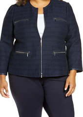 Lafayette 148 New York Kerrington Tweed Jacket (Plus Size)