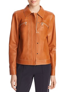 Lafayette 148 New York Kesha Leather Jacket