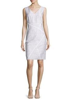 Lafayette 148 New York Kiersten Sleeveless Sakura Jacquard Dress