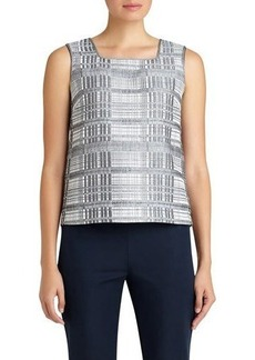 Lafayette 148 New York Kirsta Metallic-Stripe Blouse