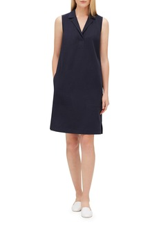 Lafayette 148 New York Kit V-Neck Sleeveless Dress with Pockets