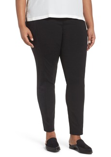 Lafayette 148 New York Knit & Faux Suede Leggings (Plus Size)