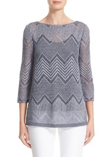 Lafayette 148 New York Knit Chevron Top