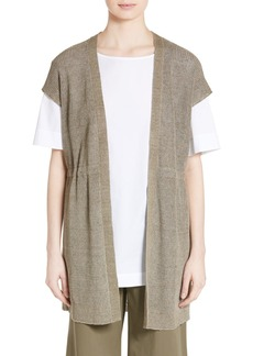 Lafayette 148 New York Knit Hemp Blend Vest